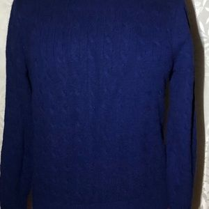 Cable wool cashmere sweater Sz M